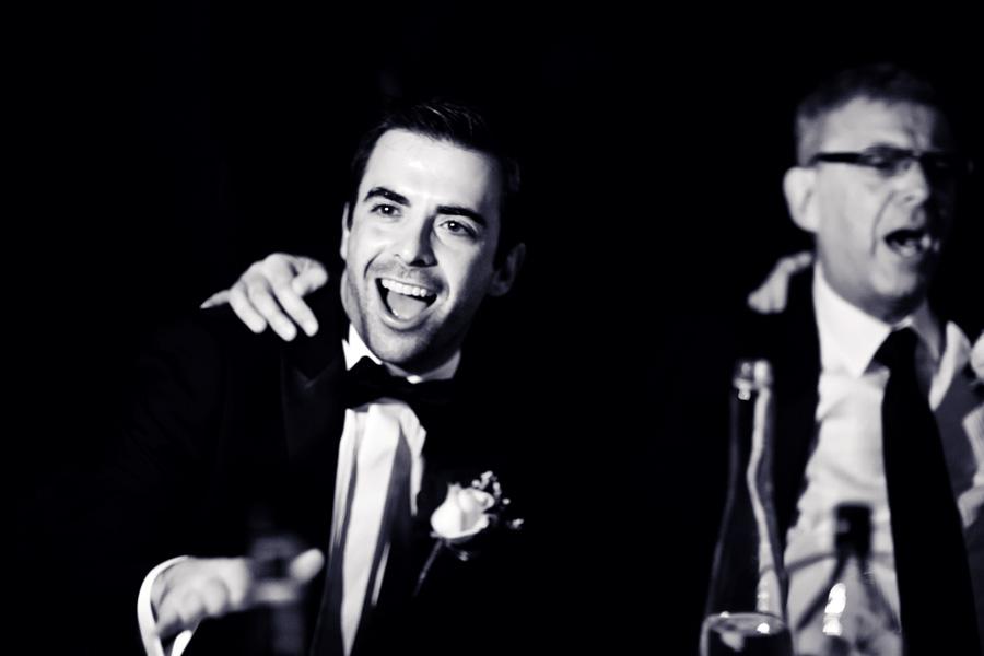 groom celebrates dorchester hotel wedding