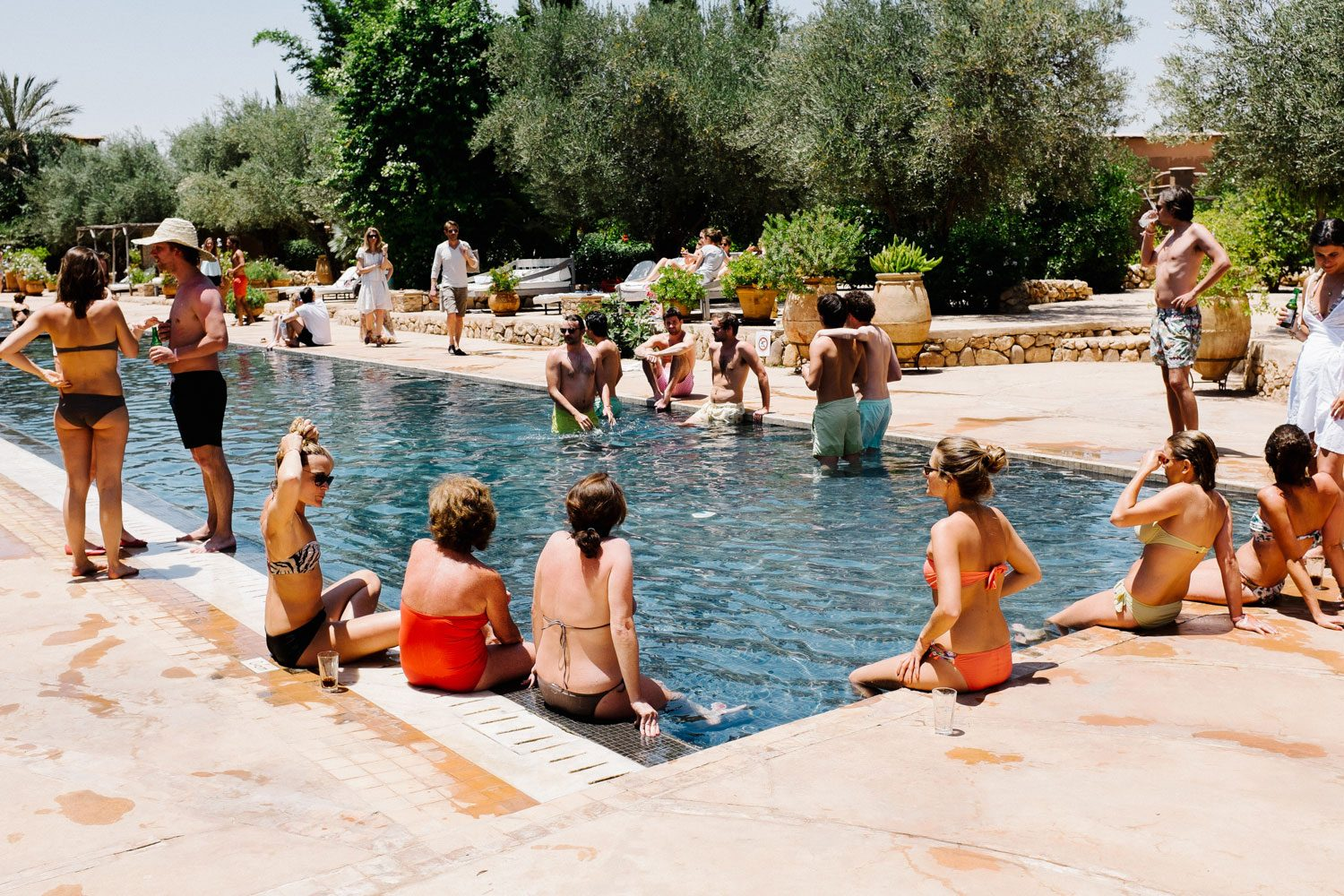 guest enjoy pool party in morocco