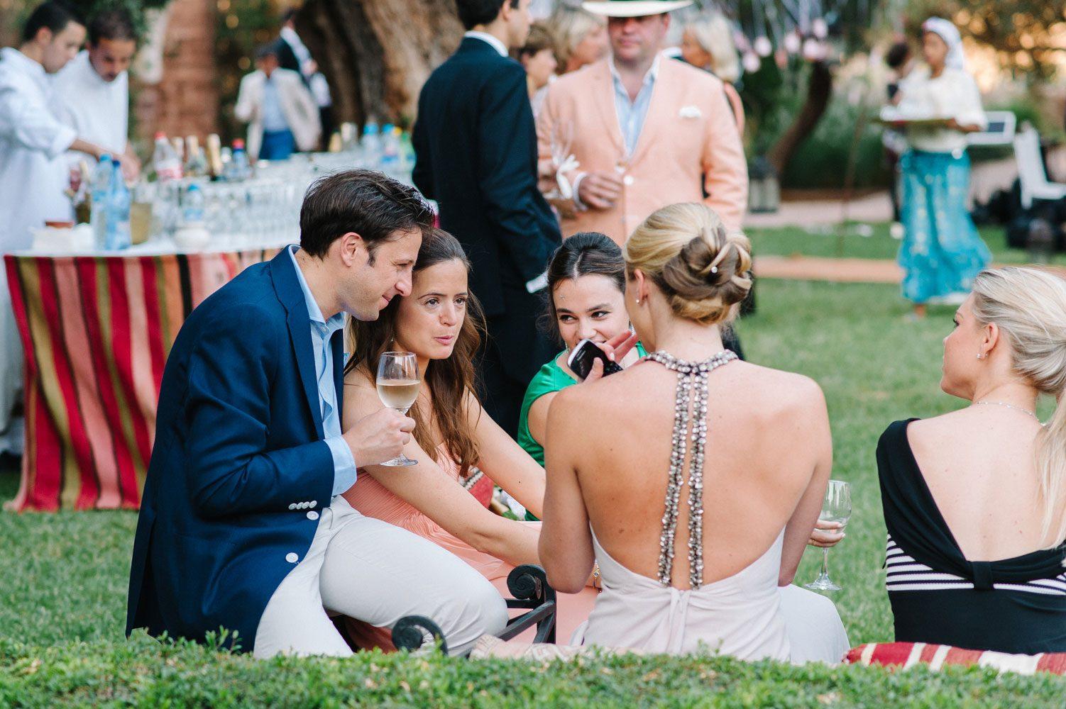 wedding guests beldi club morocco