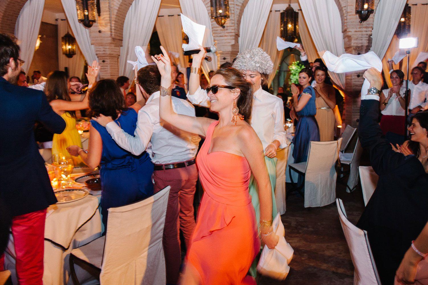 wedding guests make speech