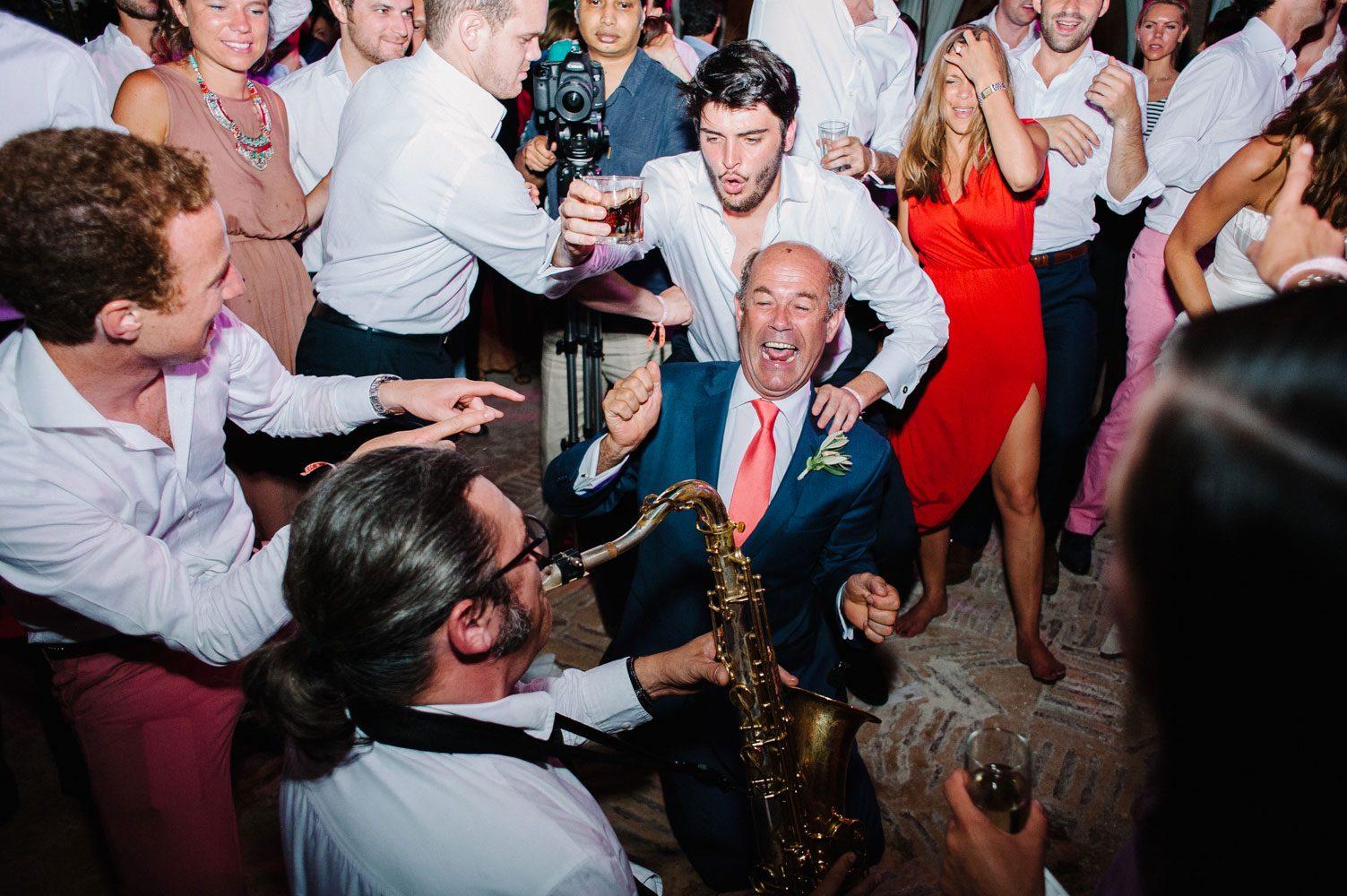 saxophonist playing at beldi wedding
