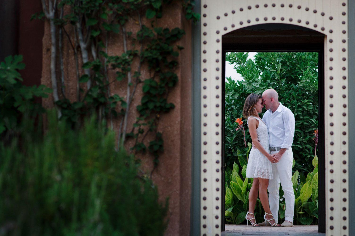 stylish bride and groom
