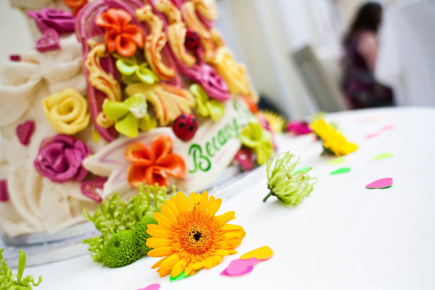 decorative flowers and wedding cakes