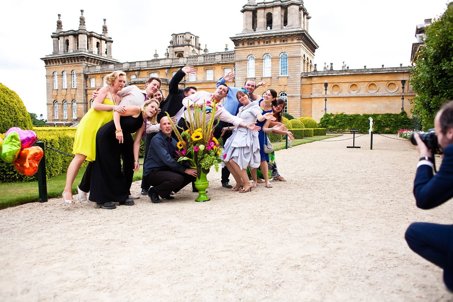 guests posing for london wedding photographers
