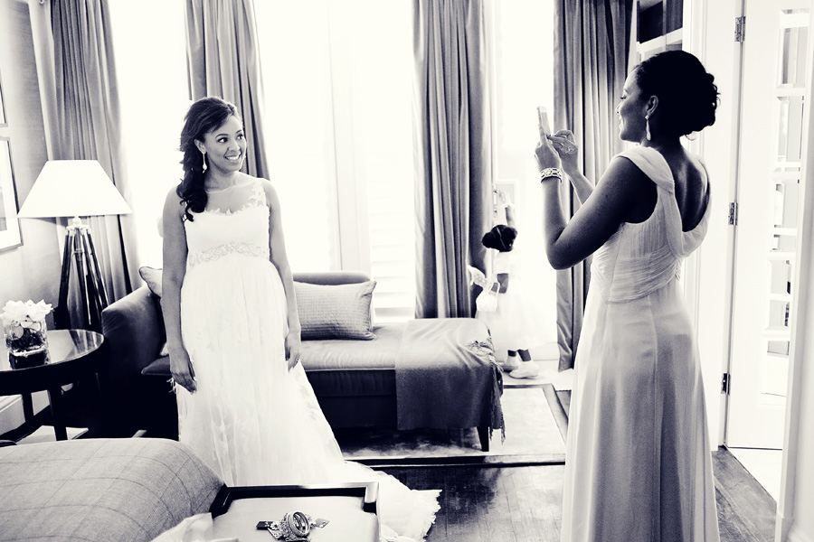 bride getting ready corinthia hotel