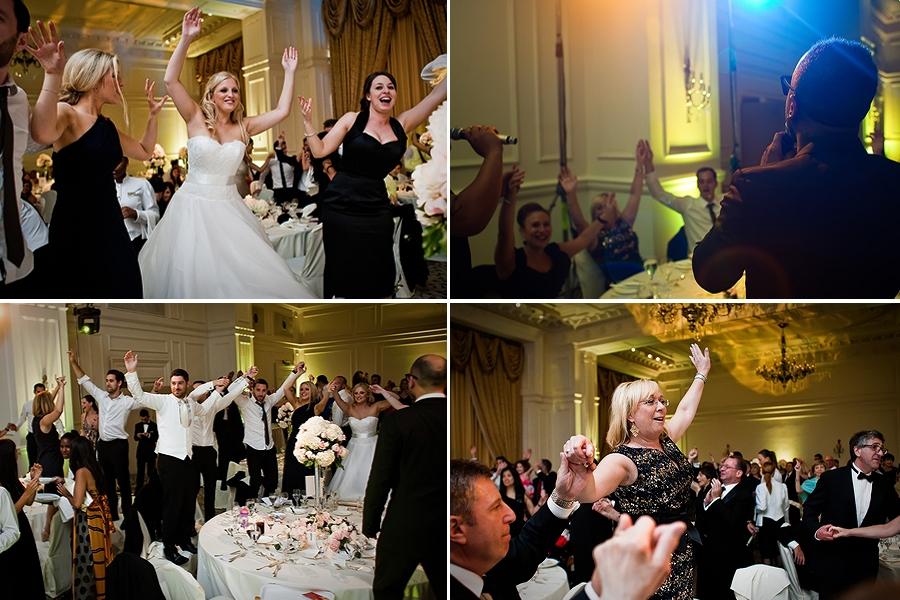 dancing at landmark hotel wedding