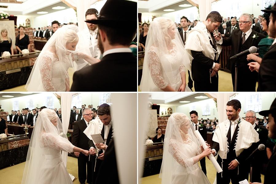jewish wedding under chuppah london synagogue