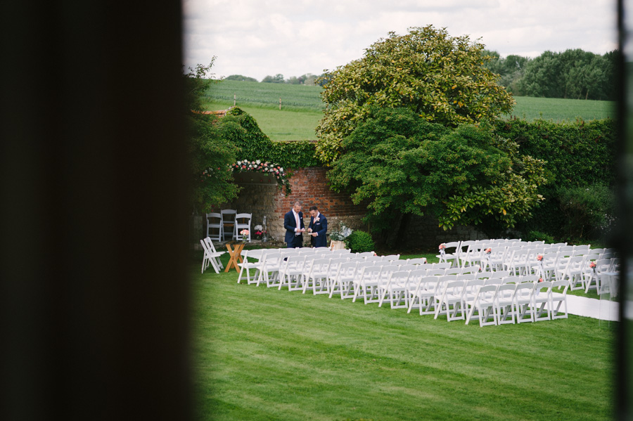 outdoor ceremony at notley abbey