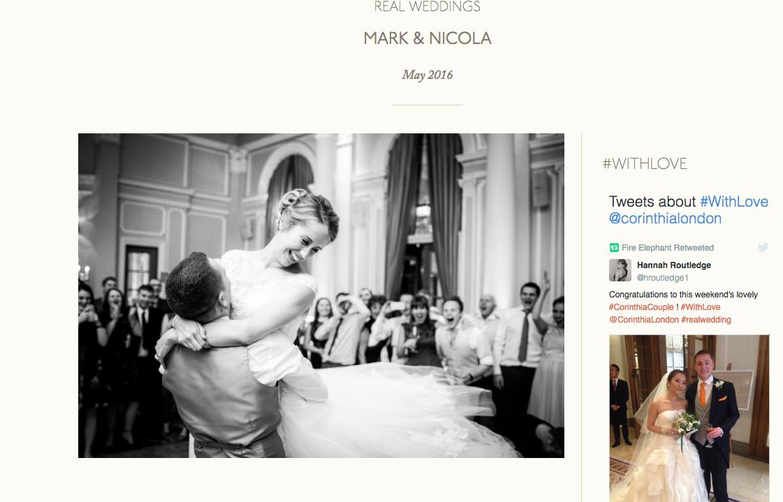 corinthia hotel wedding feature