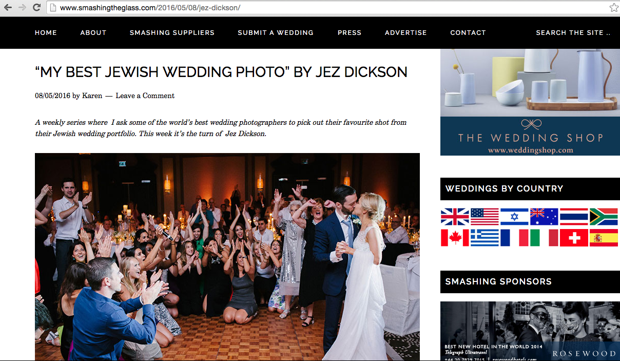 article abut jewish wedding photographs