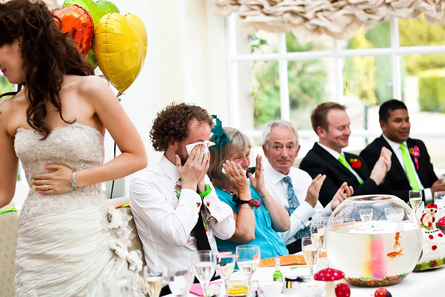 groom in tears at wedding speeches