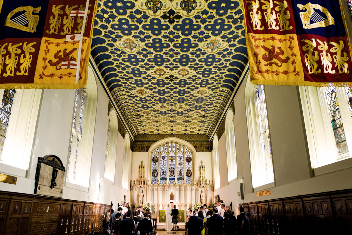 royal standard flags queens chapel wedding