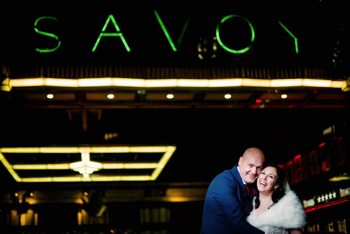 intimate savoy wedding